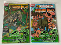 NEW Jurassic Park # 1 & 2 Jun 1993, Topps) of 4 Sealed