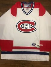 Montreal Canadiens -  Vintage White Home Jersey - OG CCM - Size Large - NWT