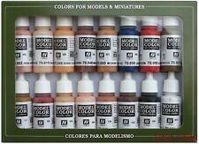 AV Vallejo Modello 70125 Colore Set Viso & colori della pelle Skintone 16 x 17ml