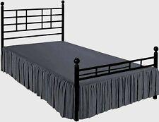 100% Microfiber Ruffle Bed Skirt Split Corner King/Queen/Full all Size Dark Grey