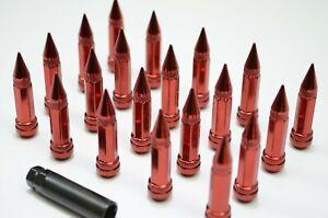 1320 Performance SPIKE RED STEEL LUG NUTS 12x1.25 20 PCS lock 95mm JDM