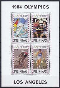Philippinen  Block 24 (1600 - 1603) **, Olympia 1984 Los Angeles (18 ME)