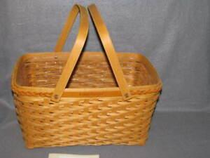 Longaberger 2000 Founder's Basket Plastic Protector Dave Longaberger Tribute EUC