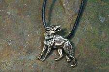 pendentif loup bronze plus bracelet en cuir amulette puissante Viking