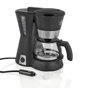 Camp4 12V Kaffeemaschine 170W 6 Tassen 600ml 234 x 169 x 256 mm für Auto