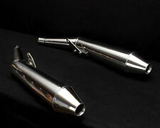 Stainless Steel Polished Motorcycle Silencers, Mufflers & Baffles