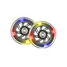 PU 120mm Leuchträder Ersatzräder für Cityroller 4 LED - 2 Stück