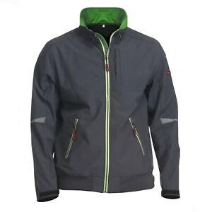 Charlie Barato® Arbeitsjacke Herren Softshell grau/grün