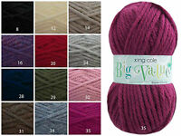 King Cole Big Value Super Chunky Knitting Wool 100g Ball-Choose from 12 Colours