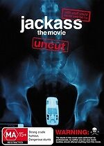 Jackass The  Movie Uncut * NEW DVD * Johnny Knoxville Bam Margera