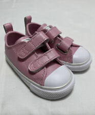 CONVERSE Girls Chuck Taylor 2V All Star Infant Babies Pink / White Shoes Size: 6