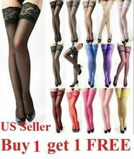Lady's Lace Top Stay Up Thigh-High Stockings Woman Pantyhose Socks us seller