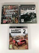 Playstation PS3 Games Bundle x 3 GTA IV 4,  GRID, WRC 2 FIA WORLD RALLY CHAMP