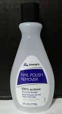 Swan Nail Polish Remover 100% Acetone Maximum Strength 6 fl oz~NEW