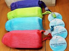 8 Essence of Beauty Exfoliating Soap Pouch 4 Great Colors LOT OF 8 ---- Luffa