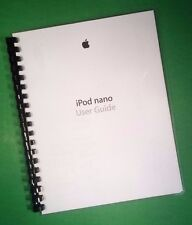 LASER PRINTED Manual Guide for Apple iPod nano 7th Gen. software, 69 Pages