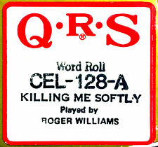 QRS Celebrity KILLING ME SOFTLY Roger Williams CEL-128-A Player Piano Roll