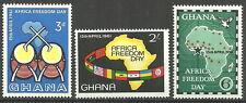 Ghana - Tag der Afrikanischen Freiheit Satz postfrisch 1961 Mi.Nr. 94-96