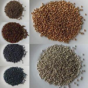 Miyuki Seed Beads Size 15° Metallic & Galvanised colours bead weaving/jewellery