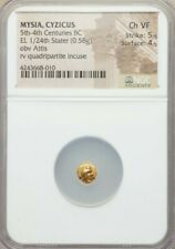 Mysia Cyzicus 1/24th Stater Attis NGC CH VF Ancient Gold Coin RARE!