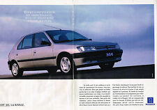 PUBLICITE ADVERTISING 025  1993  PEUGOT  306XT  ( 2pages)