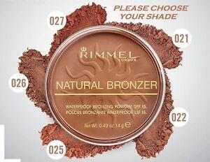 RIMMEL NATURAL BRONZER 021/022/026/027 - CHOOSE YOUR SHADE - NEW UK SELLER