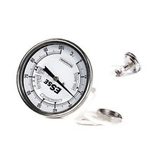 "Bi-Metal 3"" inch Dial Weldless Thermometer 50mm stainless steel  Free Shipping"