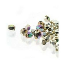 Czech True2 2mm Firepolish Glass Beads Crystal Silver Plated AB C8143 600) Facet