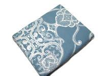 Pottery Barn Blue Ivory Alana Medallion Cotton Full Queen Duvet Cover 2 Shams