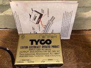 Vintage Tyco Railroad Transformer Box 899V Analog For Track & Accessories DC AC
