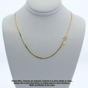 Genuine Brand new 9K Fine Italian Yellow Gold Curb Chain Necklace 45cm - 80cm