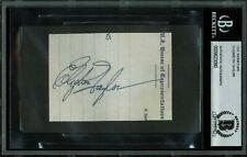 Elizabeth Taylor Authentic Signed 2.5x3.5 Cut Signature Autographed BAS Slabbed