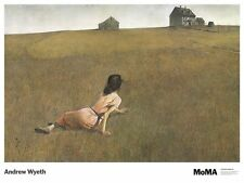 Christina's World by Andrew Wyeth Art Print MOMA Poster Girl in Field 27x36