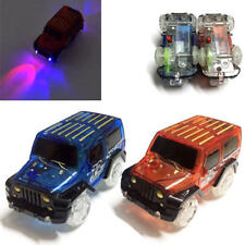 NUOVO 2 x 5 LED Auto Bambini flessibile variabile Magic Track Set Glow in Dark Light Up