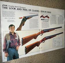 1981 Savage Model B-Se & B Side by Side Double Barrel Shotgun 2-page Ad