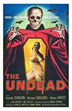 UNDEAD 1957 Vintage Horror Movie Poster Rolled CANVAS PRINT 24x36 in.