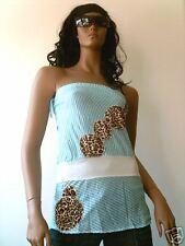 Ticila rockabilly tiger leo Tupe bandeau top camisa XS/s