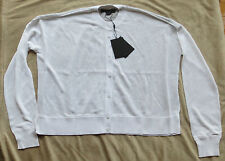 $495 NWT ALEXANDER WANG Sheer Snakeskin Cardigan Top/Shirt Sz. M Medium