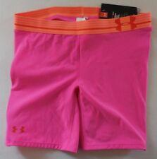 Under Armour Women's Strike Zone Slider Shorts Rebel Pink/Orange Size L New