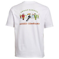 TOMMY BAHAMA Mixed Company Birds Parrot Tequila T-Shirt Big & Tall M XL Crew