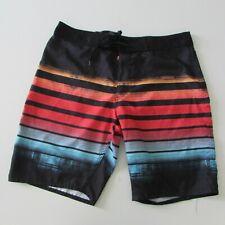 NEW Mens Board Shorts Black & Red Size W42 Regular Length Target