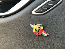 1x 3D ABARTH INTERIOR Metal Emblem Badge Sticker