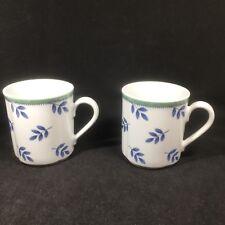 2 Villeroy & Boch Switch 3 Coffee Mugs Matches Castell Costa Cordoba Scalloped