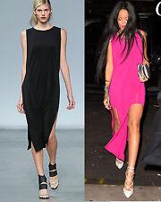 NWT Helmut Lang Faint High Slit Cut Out Dress BLACK Seen on Rihanna P XS