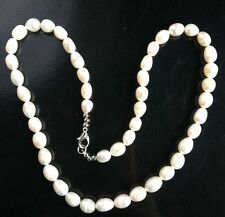 6-7mm Pearl 100% Genuine Real Freshwater Collar NECKLACE Nice Lady Female Gift