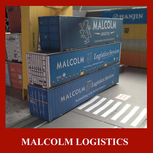 Malcolm Logistics Shipping Containers Model Card Kits 40ft & 45ft x 5 OO Scale
