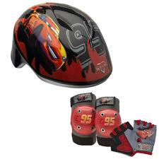 Disney Pixar Cars Toddler Kids Skate / Bike Helmet Pads & Gloves - 7 Piece Set