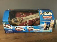 Star Wars KB Toys Exclusive Obi-Wan Kenobi Jedi Starfighter Hasbro Attack Clones