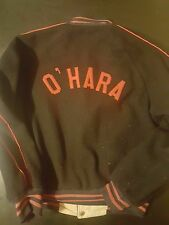 Vintage 50s 60s Sportswear Medium Wool Reversible O'Hara Jacket School Varsity