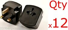 Plug Adapter 12PK - UK Ireland UAE 3 Pin Plug Adapter Type D - Change plug shape